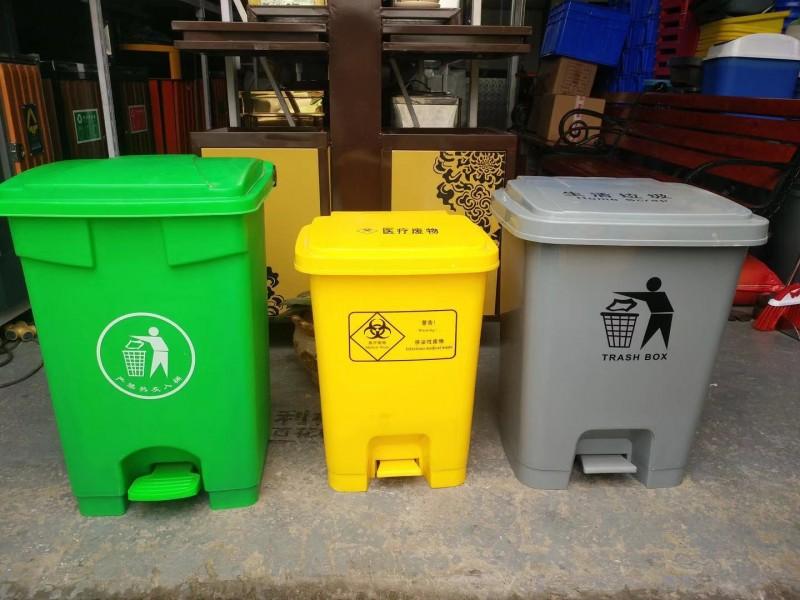 四色分类垃圾桶,金发塑料垃圾箱直销价格,批发定制厂家