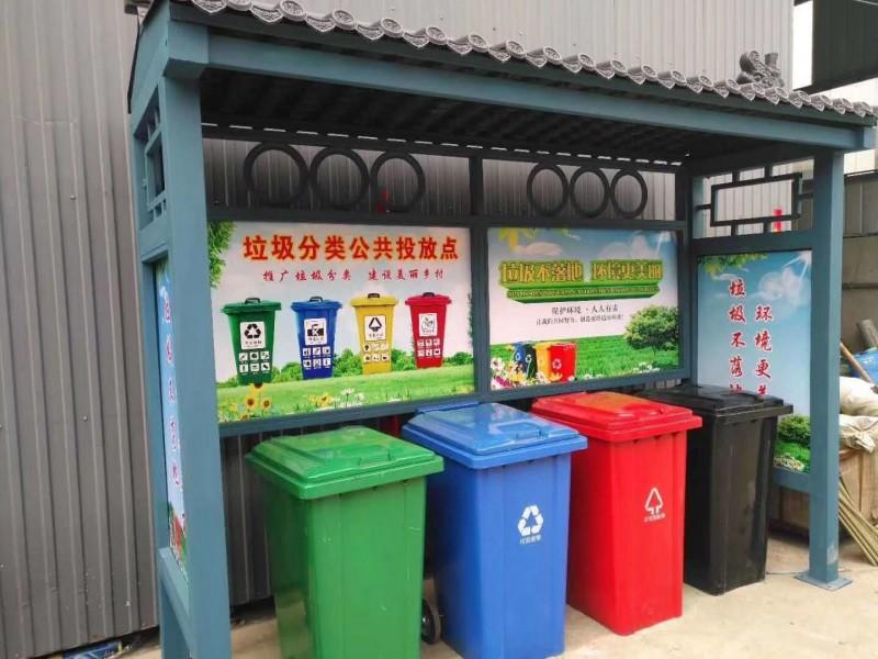 室外四色分类垃圾桶,金发塑料垃圾桶,定制厂家