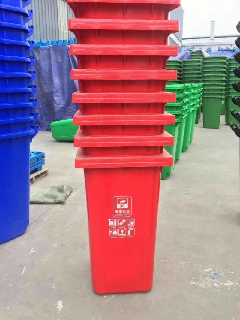 小区环卫垃圾桶价格,金发塑料垃圾桶,生产厂家直销
