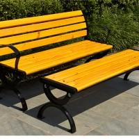公园椅子铸铝户外桌椅组合长椅排椅实木椅休闲公园长凳防腐木条椅