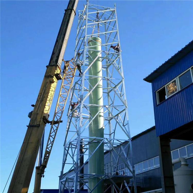 烟囱铁塔 烟筒铁塔 环保烟囱塔安装 铁塔制造厂家 质量可靠