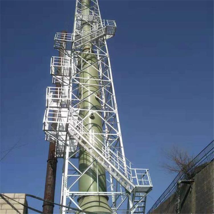 烟筒铁塔 烟囱铁塔 烟囱塔安装 环保烟囱塔 河北铁塔执照公司