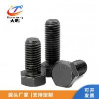 邯郸天聪厂家 高强度螺栓 外六角发黑螺栓 碳钢六角螺丝