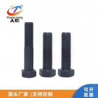 外六角螺丝 发黑螺栓 高强度六角螺栓厂家