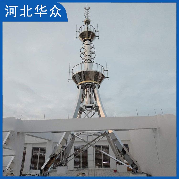 装饰塔生产厂家 钢结构楼顶装饰塔 通讯装饰塔 可定制批发
