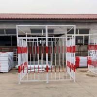 电箱保护围栏-施工电箱围栏-配电箱临时防护棚-盛宾丝网