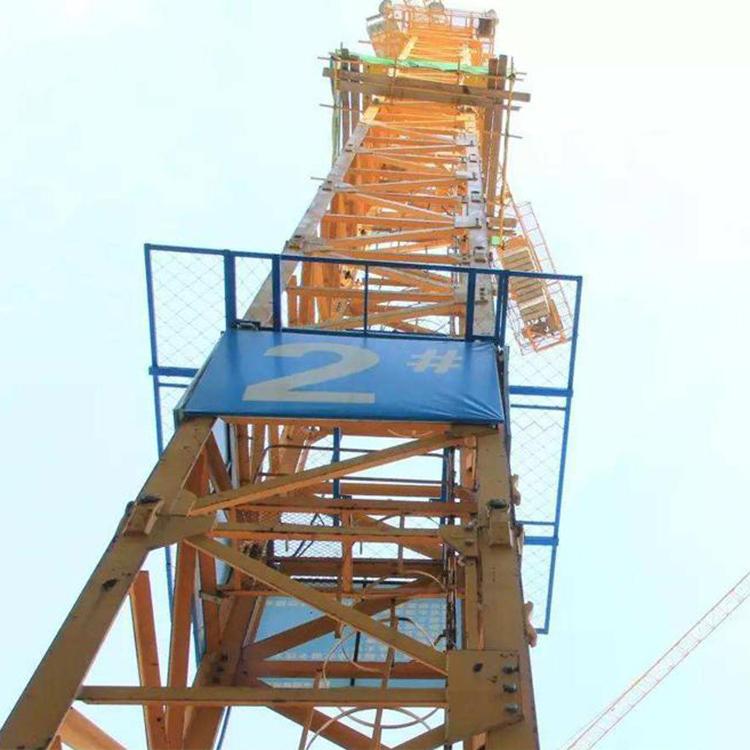 塔机防攀爬安全措施-塔吊防攀爬栏杆-塔吊检修平台-盛宾丝网