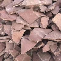 粉砂岩碎拼石 粉色碎拼石 广场复古景区铺地碎拼 经久耐用