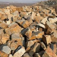 锈色垒墙石 锈石英片石毛石 园林景观挡墙石 垒墙石厂家直销