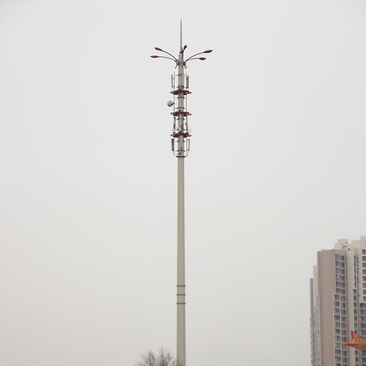 单管铁塔 单管快装塔 通信塔支架 泰翔制作 厂家销售