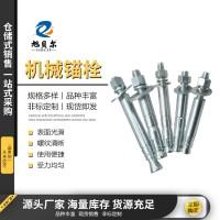 机械锚栓 后扩底螺栓国标镀锌膨胀螺栓单双管自切式机械锚栓现货