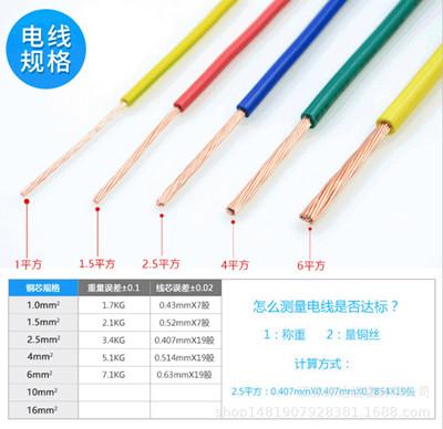 厂家直供BVR纯铜软芯电线1.5/2.5/4/6平方装修家用国标电线电缆