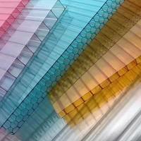 定做多彩四层蜂窝中空板车库顶棚pcc采光瓦户外雨棚透明阳光板