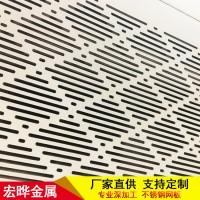 幕墙铝板装饰网 装饰铜板网 黄铜冲孔网