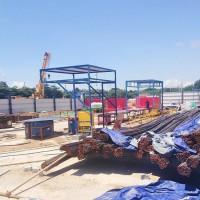 套丝机棚 施工现场钢筋棚 套丝机工地钢筋加工棚