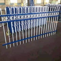 锌钢护栏网 围墙铁栅栏 三横梁护栏