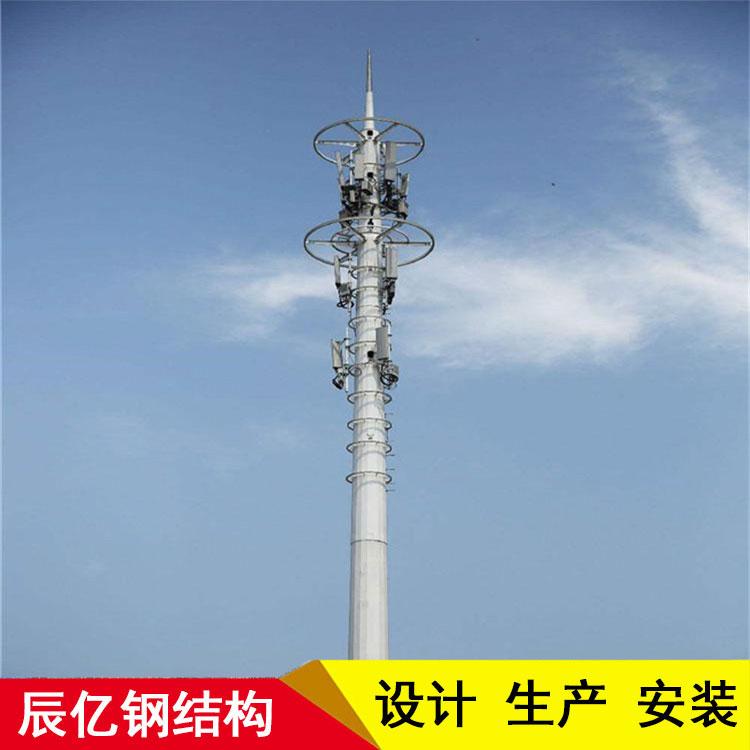 联通单管塔 镀锌单管塔厂家 单管通讯塔