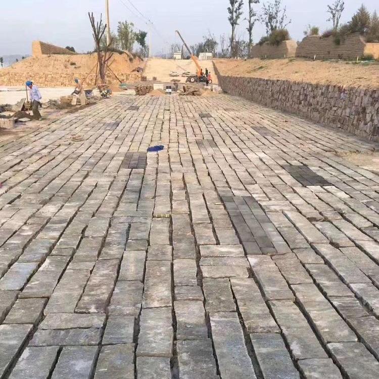 鼎岩石材 仿古旧石板 铺路石板 青石老石板