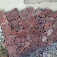 鼎岩石材 园林庭院铺地火山石板材 火山岩地铺碎拼石厂家