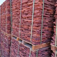 鼎岩石材 红色外墙装饰火山岩 火山岩地铺碎拼石