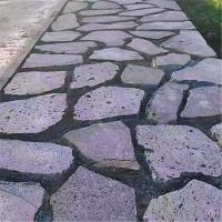鼎岩石材 园林庭院铺地火山石板材 外墙装饰火山岩 火山岩地铺