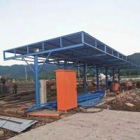 组装式单立柱钢筋棚 标准化钢筋加工棚 钢筋加工安全防护棚