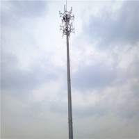 单管信号塔 10kv电力钢管塔 单管美化塔 型号齐全可定做