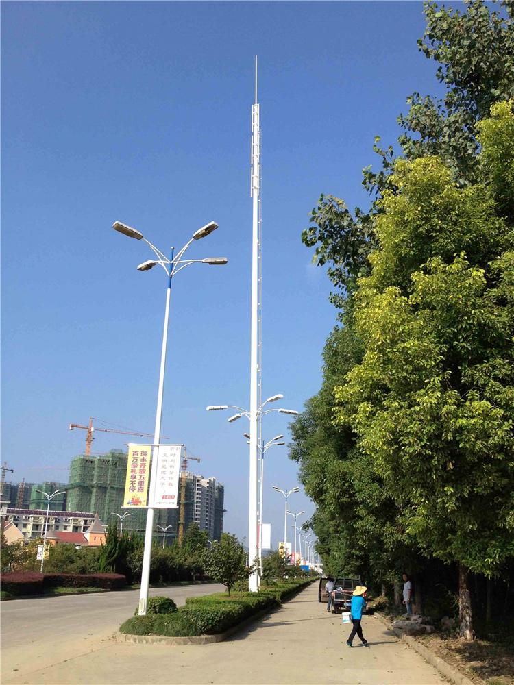 单管美化塔 单管信号塔 电力钢管塔 型号齐全可定做