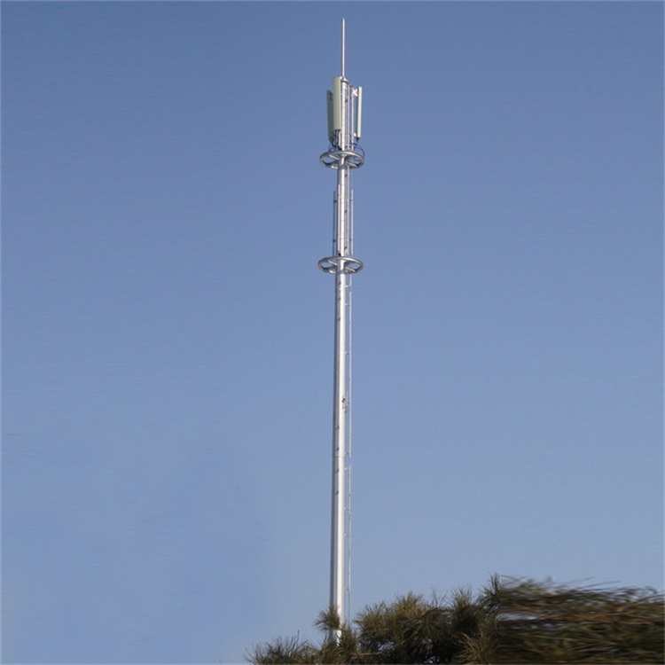 5G单管塔 独管塔 单管信号塔 10kv电力钢管塔 厂价直供 可来样定做