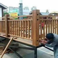 户外竹木栏杆/户外重竹栏杆/竹木护栏/防腐竹栏杆